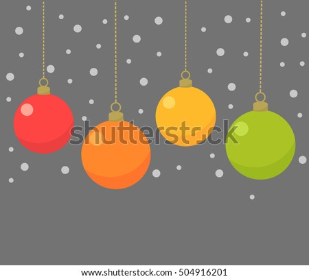 Christmas baubles. Vector illustration