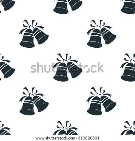 Christmas bell icon - stock vector