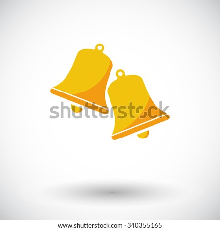 Christmas bell icon. Flat vector related icon for web and mobile applications. It can be used as -pictogram, icon, infographic element. Vector Illustration. - stock vector