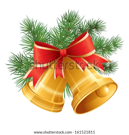 Christmas Bell. Vector Illustration - stock vector