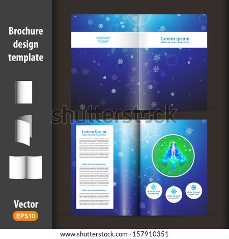 Christmas booklet, template  - stock vector