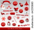 Christmas boxing day icons collection - stock