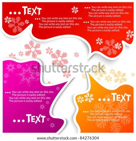 Christmas bubbles for speech - stock vector
