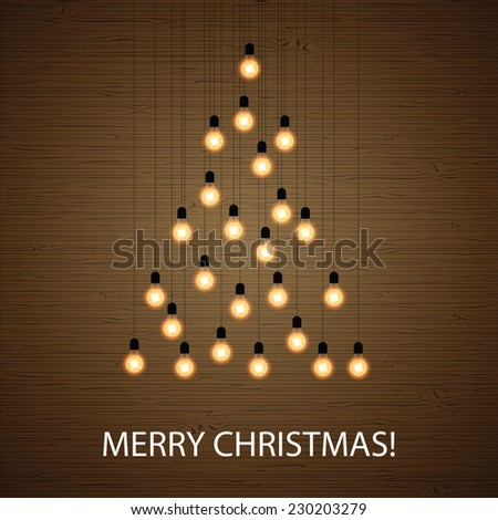 Seamless pattern light bulbs website design stock vector for Christmas tree with large bulbs