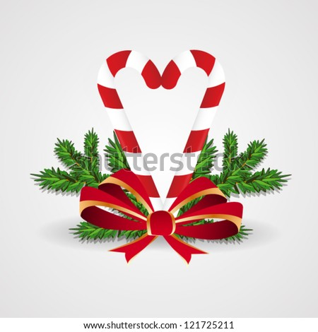 Christmas Candies with Bow - stock vector