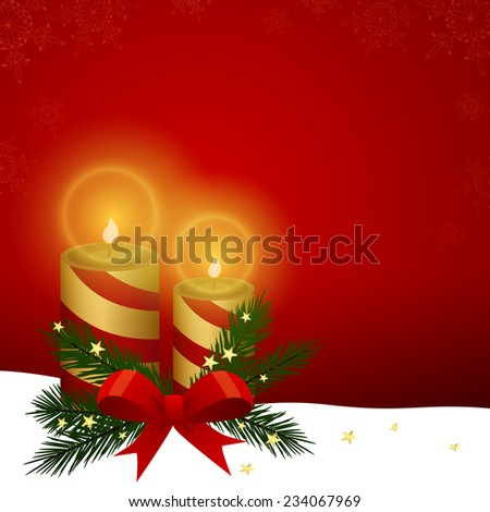 Christmas candle - vector