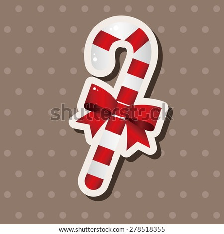Christmas candy cane theme elements - stock vector