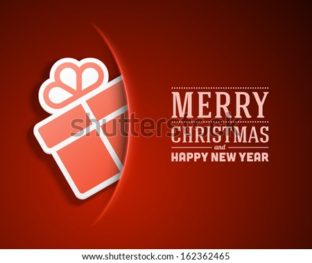 Christmas card and gift box decoration background. Vector illustration Eps 10.  - stock vector