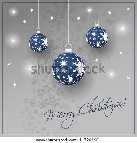 Christmas Card Background - stock vector
