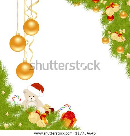 Christmas card background. Vector illustration. - stock vector