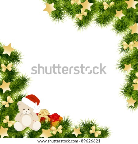 Christmas card background. Vector illustration.