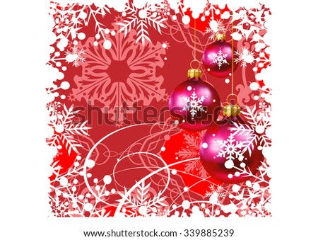 Christmas card, Christmas decoration frame, Snowflake Abstract Background, Christmas wallpaper, Holiday background - stock vector