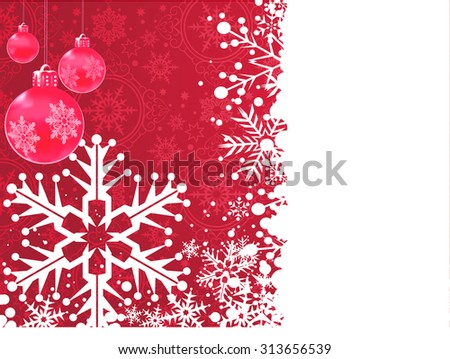 Christmas Card, Christmas ornaments, Christmas Decoration Ideas, Red, Vector - stock vector