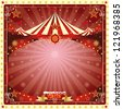 Christmas card circus. A circus christmas or Happy new year's card for you - stock vector