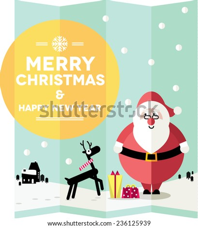 Christmas card design/ wallpaper - stock vector