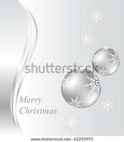 Christmas card design with baubles - stock vector