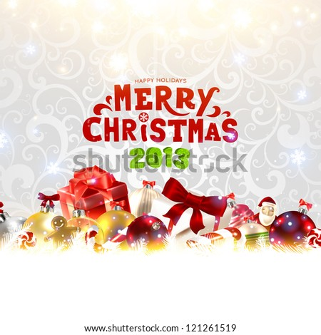 Christmas card for Xmas design - stock vector