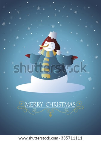 Christmas card in editable vector file