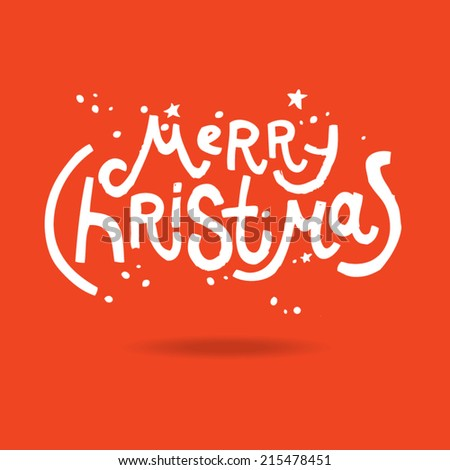 Christmas card. merry christmas - stock vector