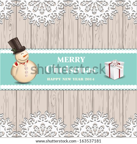 Christmas card, New Year - stock vector