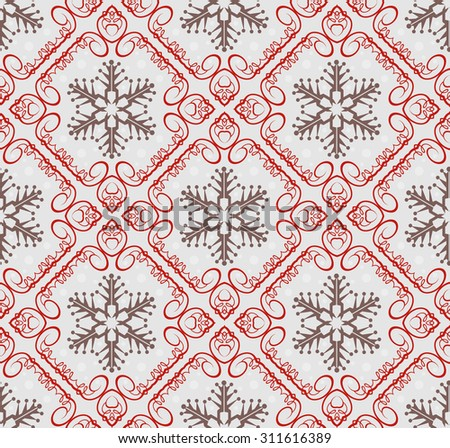Christmas Card Seamless Pattern Christmas Background Christmas Decoration Ideas Good for Wrapping Paper Vector Image - stock vector