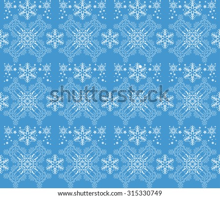 Christmas Card Seamless Pattern Christmas Background Christmas Decoration Ideas Good for Wrapping Paper Blue. Vector