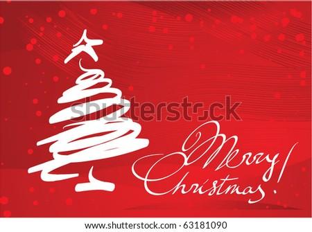 Christmas card. Vector template. - stock vector