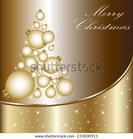 Christmas card with a Christmas tree . vector