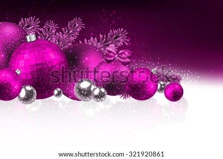 Christmas card with christmas balls. Vector Illustration. - stock vector