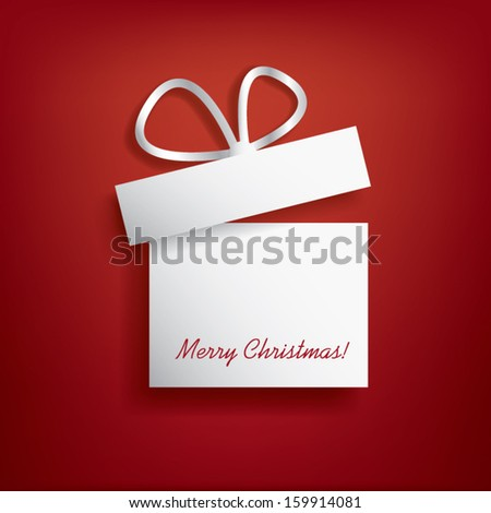 Christmas card with christmas present eps10 vector design - stock vector