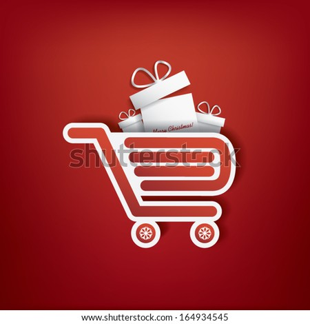 Christmas card with christmas presents eps10 vector design - stock vector