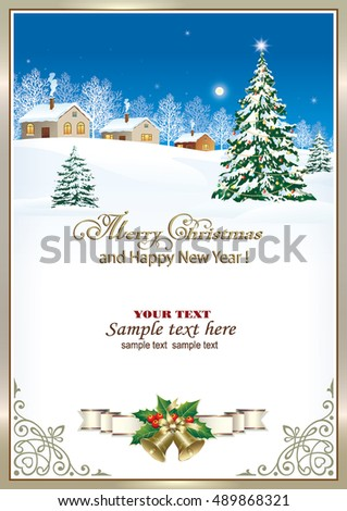 New Years Holiday Background Hanging Herringbone Stock Vector