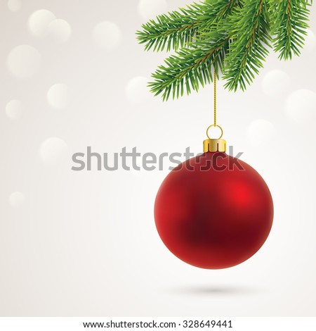 christmas card with copy space - stock vector
