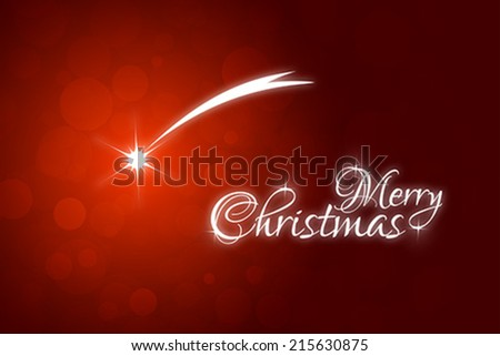 Christmas Card with falling Star - stock vector