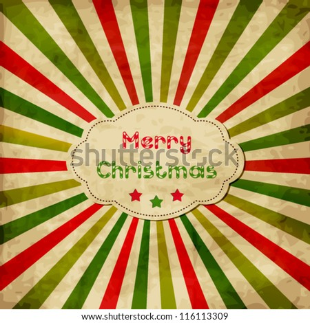 Christmas card with frame - stock vector