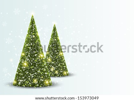 Christmas card with place for text - stock vector