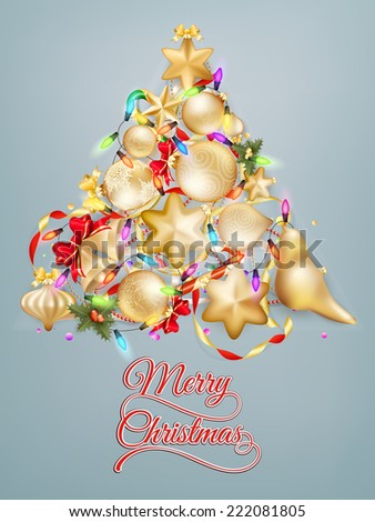 Christmas card with place for text. EPS 10 vector file included - stock vector