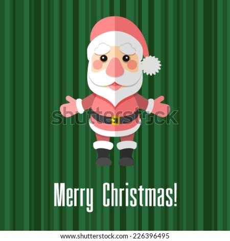 Christmas card with Santa Claus - stock vector