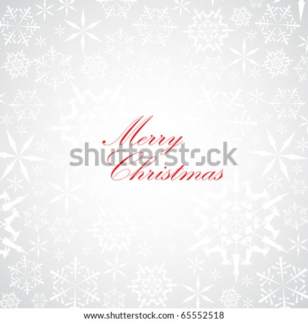 Christmas card with snowflake pattern on the background - stock vector