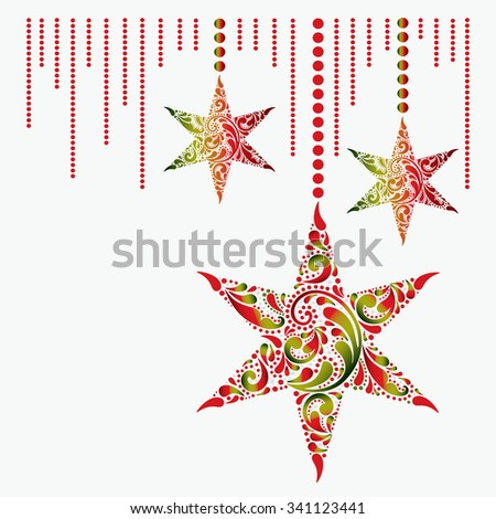 Christmas card with the stars. - stock vector