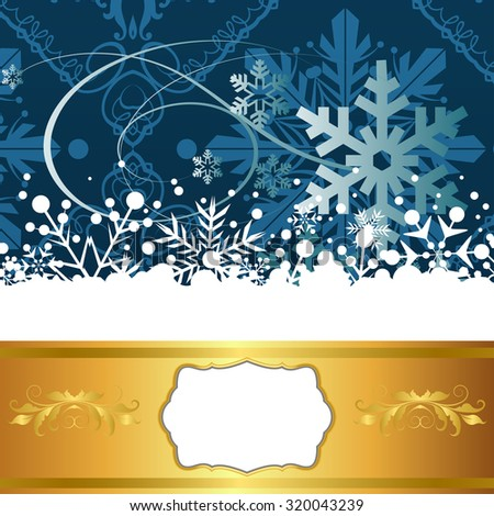Christmas Card. Xmas Wallpaper. Christmas decor. Xmas lights. Christmas Background. Christmas Decoration Ideas. Blue color. Vector - stock vector