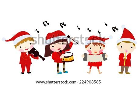 Christmas children - stock vector