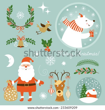 Christmas Clip Art.  - stock vector