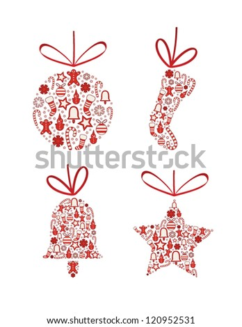christmas collection - stock vector