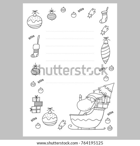 Santa letter stock images royalty free images vectors christmas coloring page christmas wish list with santa a letter to santa template spiritdancerdesigns Images