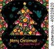 Christmas composition - stock vector