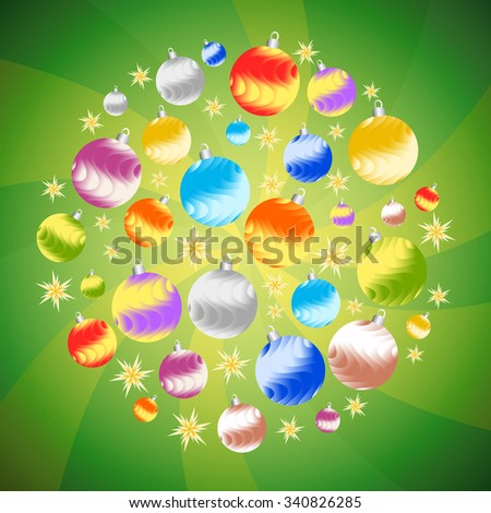 Christmas decor (balls and stars).