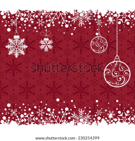 Christmas decoration frame. Snowflake Abstract Background. - stock vector