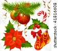 Christmas decoration set 2 - stock photo