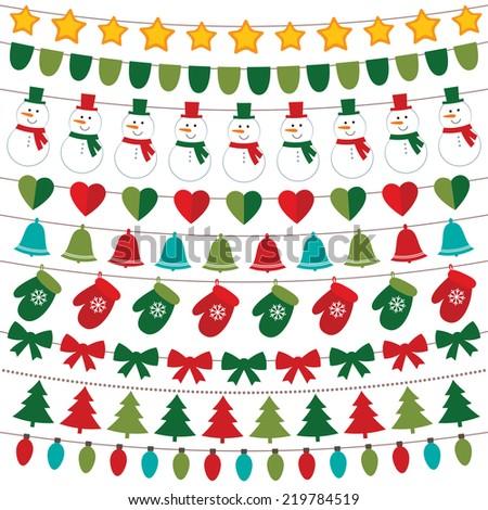 Christmas decoration vector set - stock vector